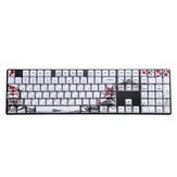 MechZone 110 Keys Plum Blossom Keycap Set OEM Profile PBT Sublimation Keycaps for GH60 IKBC Ducky FILCO 61/87/96/104/108 Keys Mechanical Keyboard