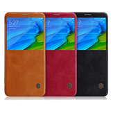 NILLKIN Flip PU Leather Smart Sleep With View Window Protective Case For Xiaomi Redmi Note 5