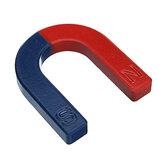 U Shaped Horseshoe Magnet Rød Blå Malet Pol Fysik Eksperiment Undervisning 60mm