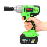 12800mAh Li-Ion Battery Impact Wrench Power Cordless Brushed Electric Wrench