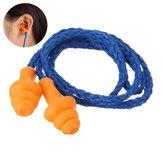 1 Paar Soft Silikon-Ohrstöpsel Wiederverwendbarer Gehörschutz Schlaflärm Lärm Reisen Studieren Ohrstöpsel mit Seil