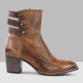Large Size Hollow Chunky Heel Ankle Martin Boots