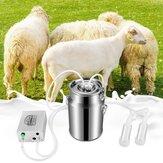 7L Elektryczna pulsacyjna dojarka do mleka Wiaderko na mleko dla owiec Kozy Wiadro pompy próżniowej ze stali nierdzewnej Milker Rolnictwo Farm