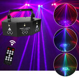 Laser LED Light Remote 9-EYE RGB DMX Projector Flitsers DJ KTV Disco Stage Light