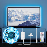 BlitzWolf® BW-LT32 2M USB RGB TV Strip Light Kit Sincronización con pantalla de TV Color Cubierta de 3 lados para TV Efecto de iluminación de color RGB vívido y control simple dual