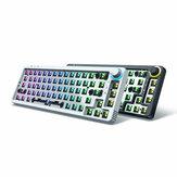 GamaKay LK67 Klavye Özelleştirilmiş Kit 67 Tuşlar RGB Çalışırken Değiştirilebilir bluetooth Klavye 3pin/5pin Anahtarı %65 Programlanabilir Üçlü Mod Kablolu bluetooth 5.0 2.4GHz Klavye Kit NKRO PCB Montajı Kap Kılıf Döndür Düğmeli Öze