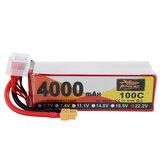 ZOP Power 22.2V 4000mAh 100C 6S LipoバッテリーXT60プラグ、FPV RCドローン用