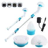 Elektrische reinigingsborstel Draadloos opladen Reinigingsborstel Automatische roterende mop Lange steelborstel