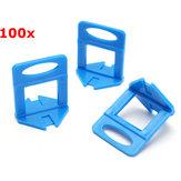 100Pcs Leveler Céramique clips Spacers Plastic Tile Wall Floor système de mise à niveau Tool