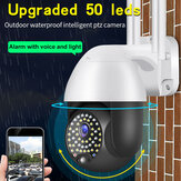 Bakeey 50 LED HD IP Camera Wireless WIFI Intelligent PTZ Camera Voice Intercom Outdoor Waterproof Alarm with Voice Light Surveillance