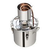12L 3.2GAL Stainless Steel Alcohol Distiller Water Still Oil Boiler Maker Boiler Stainless Steel Copper Set