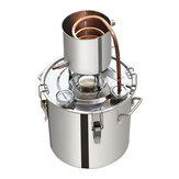 Destilador de alcohol de acero inoxidable 12L 3.2GAL Destilador de agua Oil Caldera de acero inoxidable Cobre Juego