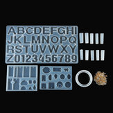 214PCS Silicone Epoxy Resin Casting Mold Kit Jewelry Pendant Making DIY Mould Craft