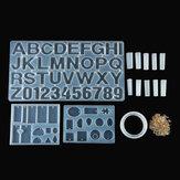 214PCS Silikon Epoxidharz Gussform Satz Schmuck Anhänger Herstellung DIY Form Handwerk