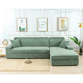 Green Stretch Elastic Sofa Cover Solid Non Slip Soft Slipcover Washable Couch Furniture Protector for Living Room