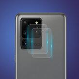 Enkay 2PCS Anti-Scratch 9H 0.2mm Ultra-Thin HD Teléfono de vidrio templado transparente Cámara Lente Protector para Samsung Galaxy S20 Ultra
