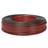 Аудио кабель 100м2 х 0,50 мм Громкоговоритель Провод Черный / Красный HiFi / Авто мотоцикл