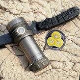 Titanium/PretoAMUTORCHSST40X9 XP-L HD 3600lm Alta Lumen USB Recarregável 26650 Lanterna
