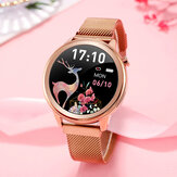 Bakeey F80 Temperature Monitor Female Physiological Health Respiration Rate Wristband Weather Display Smart Watch