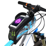 ROCKBROS 021 MTB Road Bicycle Bike Bag Rainproof Touch Screen Cycling Top Front Tube Frame Bags 6.0
