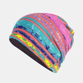 Women Cotton Multi-purpose Printing Beanie Cap Neck Gaiter Face Shield Hats Bandana