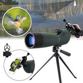 Xmund XD-TE1 25-75x70 Zoom Monocular HD BAK4 Optic Bird Watching Spotting Telescope + Statief + telefoonhouder