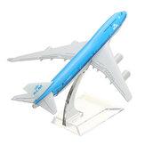 جديد 16 سنتيمتر طائرة معدنية طائرة نموذج الطائرة b747 كلم طائرة طائرة مكتب لعبة