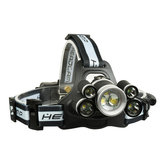XANES 2508B 2800LM 2×XPE+5×T6 7LED 5Modes USB Charging Whistle Headlamp 18650 Battery