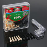 100pcs Guitar String Bridge Pins Cones Repair Kit Winder With Box