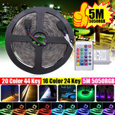5M IP20 IP67 SMD2835 RGB LED Strip Light DC12V + 24Keys Or 44Keys Remote Control for Indoor Home Decor