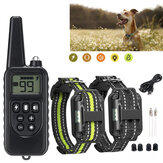 800m Wireless remoto Controllo LCD Display USB Ricaricabile Dog Bark Collar Shock elettrico Addestratore di animali domestici per 1-2 cani, Spina US / EU / UK