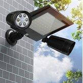 Luz de inundação solar 64LED Cabeça dupla 360 ° Rotatable Outdoor Motion Sensor Lâmpada de parede