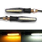 Pair 12 V Motor Ganda Warna LED Turn Signal Indicator DRL Mengalir Sequential Lights
