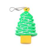 Christmas Tree 128G USB2.0 Flash Drive Thumb Drive 16G 32G 64G USB Stick Soft Shell 12MB/s Memory Disk