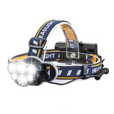 XANES 1200lm 6 LED Headlamp 8 Modes Waterproof USB Rechargeable Flashlight for Camping Fishing Cycling