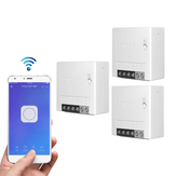 3 шт. SONOFF MiniR2 Two Way Smart Switch 10A AC100-240V Работает с Amazon Alexa Google Home Assistant Nest поддерживает режим DIY Позволяет Flash прошивок