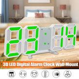 Cyfrowy zegar ścienny LED na stół Duży wyświetlacz 3D Budzik Jasność ściemniacz Zasilanie USB