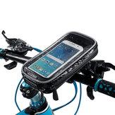 Su geçirmez Dokunmatik Ekran Telefon Kılıfı Çanta Motosiklet Bisiklet Bisiklet Gidon Tüp Dağı Dönebilen