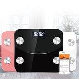 App de escala de gordura corporal inteligente Balança sem fio inteligente para peso corporal Gordura corporal Água Massa muscular IMC Massa óssea Gordura visceral etc.