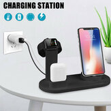 Bakeey 3 In 1 10W Charging Stand Station iPhone/Micro/Type-C Charging Dock For iPhone 12 11Pro Max XS Max MI10 POCO X3