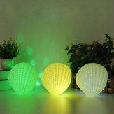 Creative 3W Colorful Shell LED Night Light Wireless recarregável Bluetooth Speaker Music Home Decor