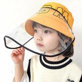 Kids / Little Kids(4-7ys) Removable Anti-droplet Protective Cap Bucket Hat