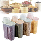 4 Pcs Plastic Airtight Food 1.9L Container Storage Box Rice Cereal Bean for Kitchen Storage Box