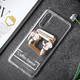 Capa protetora de TPU transparente para Huawei P30 Pro / Huawei Companheiro 30 Pro Assar Coffin Dance Team padronizar Fashion Desenho animado Anti-riscos