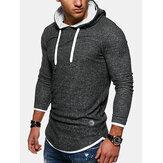 Sweats à capuche décontractés à manches longues pour hommes