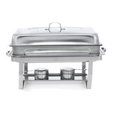 Folding Buffet Stove Stainless Steel Chafing Dish Food Warmer for Kitchen