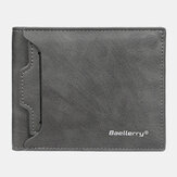 Baellerry Men PU Cuir Multi-Card Slot Casual Thin Money Clip Porte-cartes Portefeuille