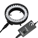 Adjustable 56 LED Ring Light Illuminator Lamp for Industry Stereo Electron Microscope with EU Plug