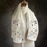 Women Multi-purpose Lightweight Floral Pattern Elegant Long Scarf Shawl