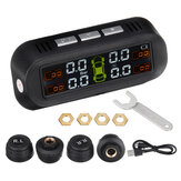 TY-1 Tire Pressure Monitor System Real-time Tester LCD Screen with 4 External Sensors Auto Power On Off
